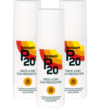 Once a day factor 20 spray trio
