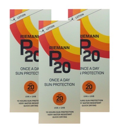 Once a day factor 20 lotion trio