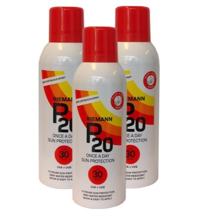 Continuous spray SPF30 trio
