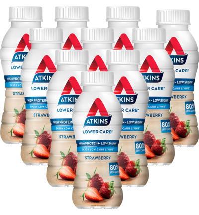 Atkins Ready To Drink Strawberry 10 pack (10x330ml)