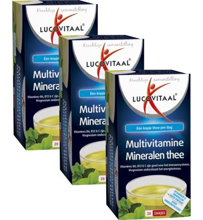 Multivitaminen en mineralen thee trio
