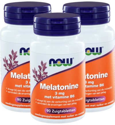 Melatonine 3 mg met vitamine B6 trio