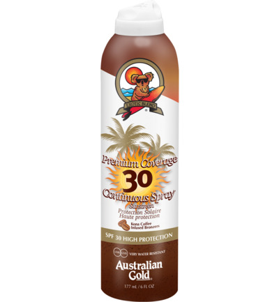 Premium Coverage Continuous Spray Sunscreen SPF30 Bronzer