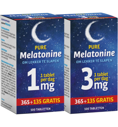 Melatonine 1mg + 3mg combi
