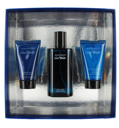 Afbeelding van Davidoff Coolwater Men Douche Gel + Eau De Toillette After Shave Balm Geschenkset 50+75+50ml