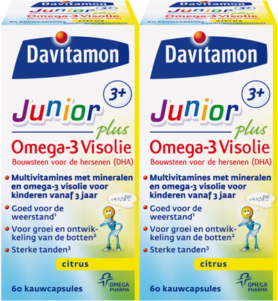 Junior 3+ omega 3 visolie duo
