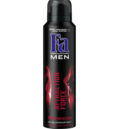 Men Attraction Force 48u Deodorant Spray 150 ml