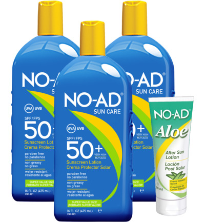 Sun tan lotion SPF50 trio
