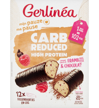 Carb Reduced High Protein Repen Framboos Chocolade