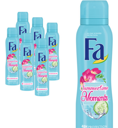 Summertimes Moments Deodorant Spray 6 pack
