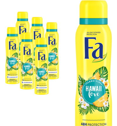 Deodorant spray Hawaii love 6 pack