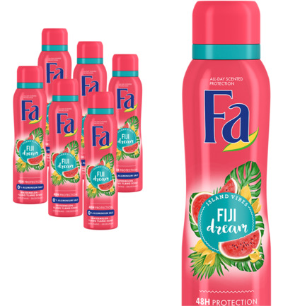 Deodorant spray Fiji dream 6 pack