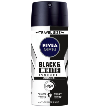 Deodorant Black & White Invisible travel size