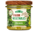 Farm vegetables doperwten & basilicum