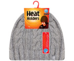 Ladies cable hat one size light grey